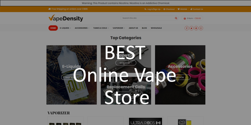 Vapedensity-The Best Online Vaping Supply Store In Canada